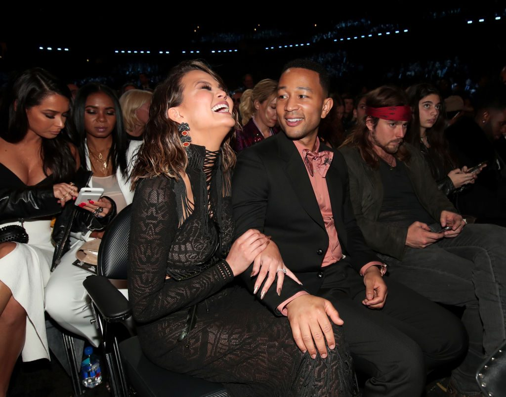 Singer John Legend and Chrissy Teigen