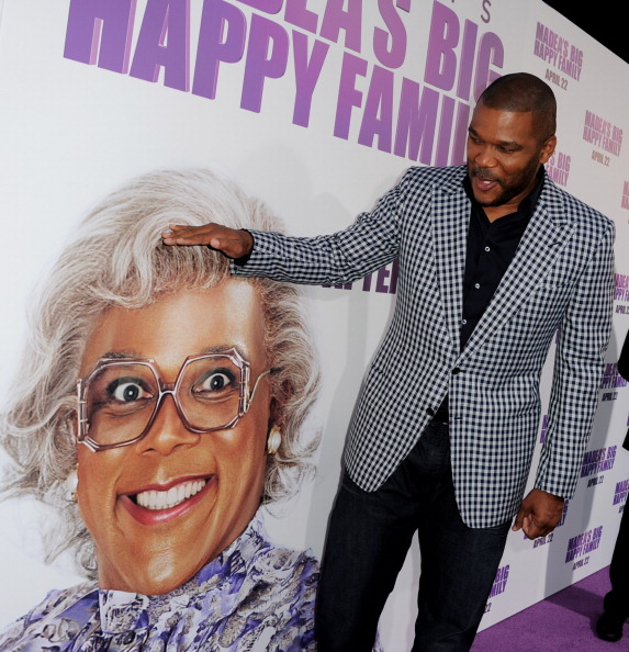Tyler Perry at Madea's Big Happy Family Red Carpet at the Cinerama Dome Theater