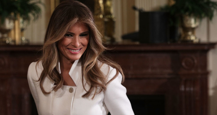 Watch Melania Flinches at Trump Touch in New Viral Video