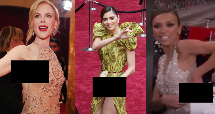 Worst Oscars Wardrobe Malfunction Photos