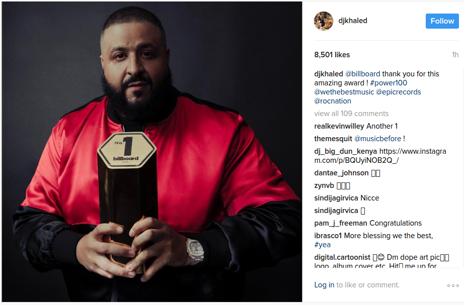dj khaled billboard power 100
