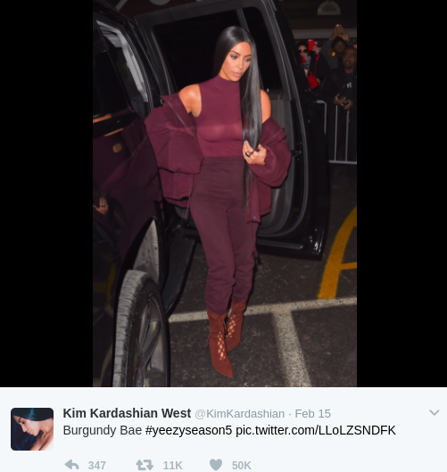 kim kardashian nyfw