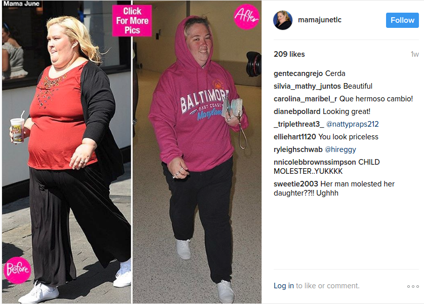 mama june weight loss pics
