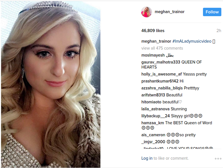meghan trainor instagram