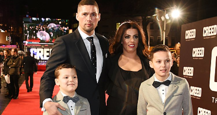 Tony Bellew, Racheal Roberts, and children