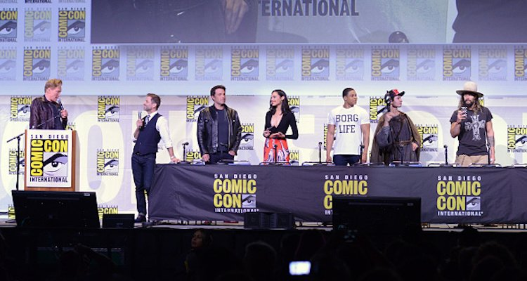 Justice League, Ben Affleck, Gal Gadot, Ray Fisher, Ezra Miller, and Jason Momoa
