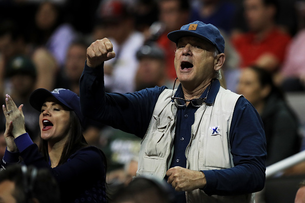 Bill Murray cheers on Xavier basketball team's upset win over Arizona