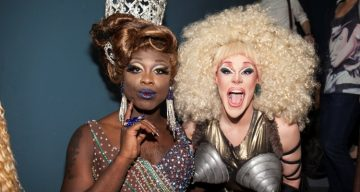 Bob The Drag Queen and Thorgy Thor attend RuPaul's Drag Race Season 8 Finale Party