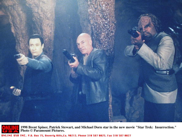 "Brent Spiner, Patrick Stewart and Michael Dor in ""Star Trek"""