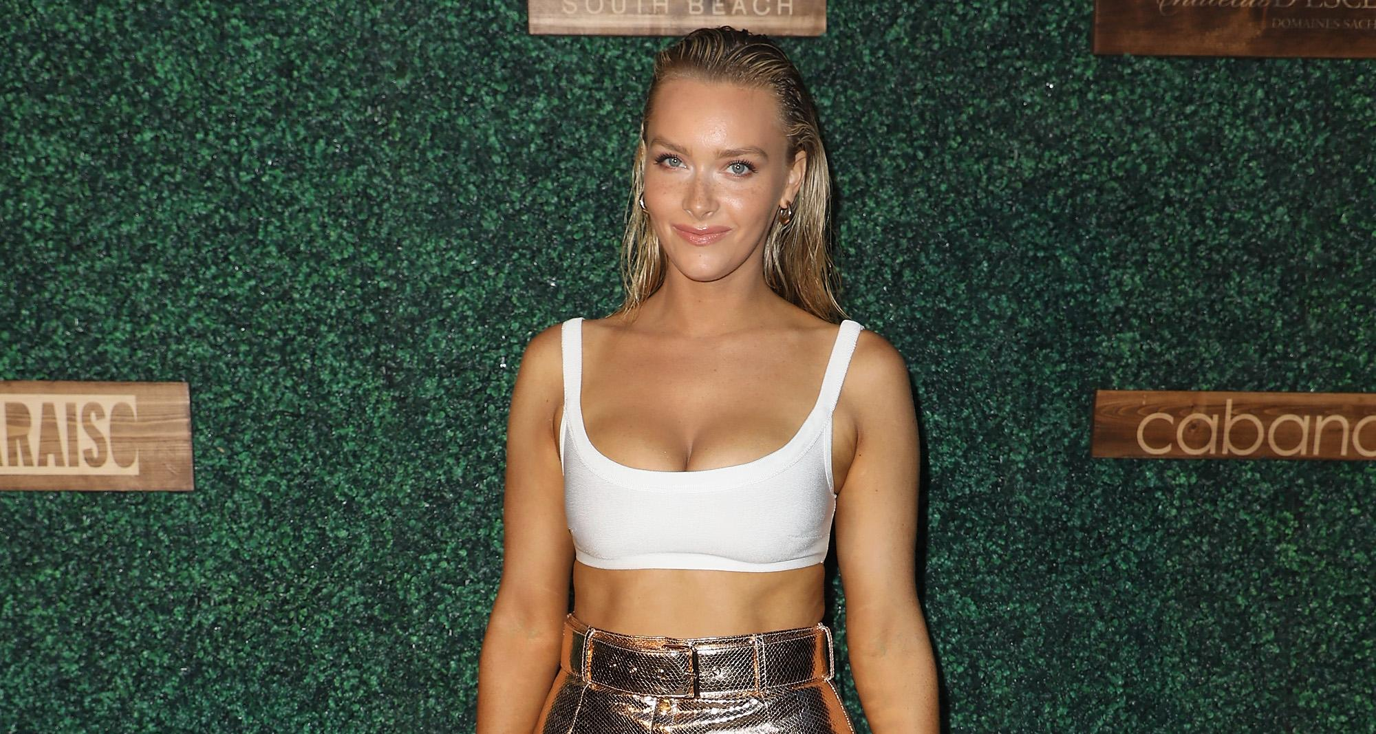 Camille Kostek attends the 2018 Sports Illustrated Swimsuit show at PARAISO during Miami Swim Week at The W Hotel South Beach