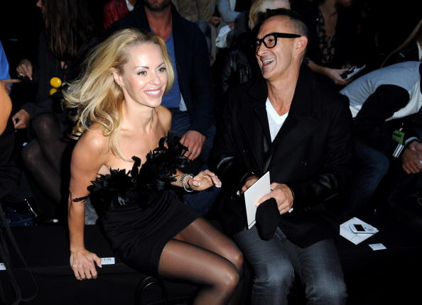 Helena Seger & Neil Barret at DSquared 2 Milan Fashion Week 2011