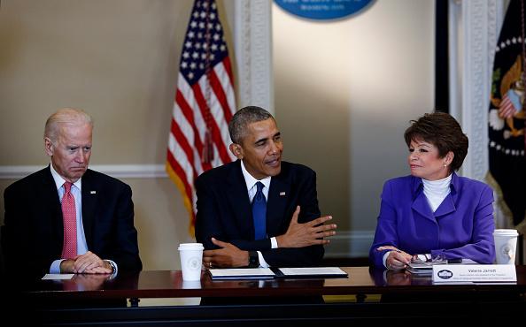 Joe Biden, Barack Obama & Valerie Jarrett