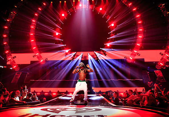 Lil Wayne at the 2015 iHeart Radio Music Festival