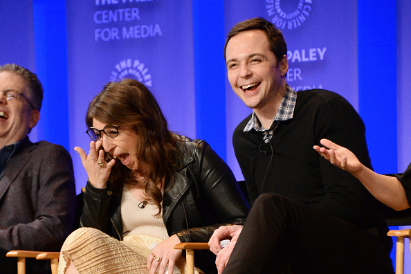 Mayim Bialik and Jim Parsons