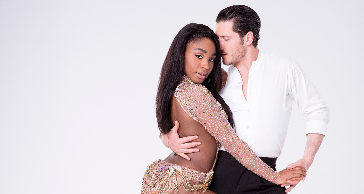 Normani Kordei and Val Chmerkovskiy DWTS