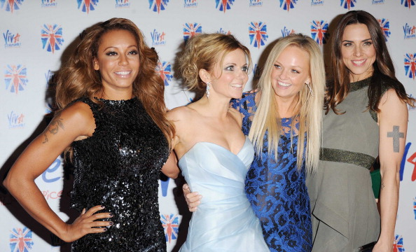Spice Girls Melanie Brown, Geri Halliwell, Emma Bunton and Melanie Chisholm