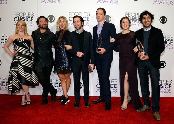 The cast of The Big Bang Theory at the People's Choice Awards 2016