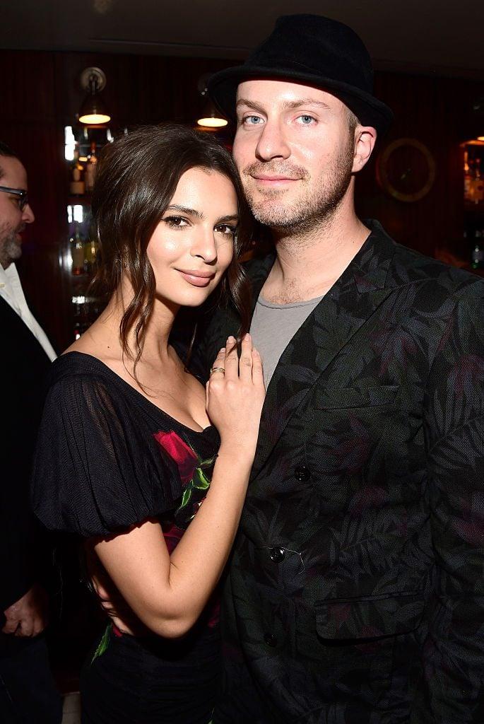 Emily Ratajkowski with beau Jeff Magid