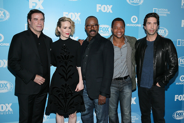 John Travolta, Sarah Paulson, Courtney B. Vance, Cuba Gooding Jr. and David Schwimmer