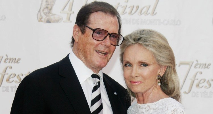 Roger Moore and wife, Kristina Tholstrup
