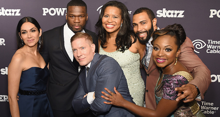 """Power"" Cast: Lela Loren, Curtis '50 Cent' Jackson, Joseph Sikora, Courtney Kemp Agboh, Omari Hardwick, and Naturi Naughton"