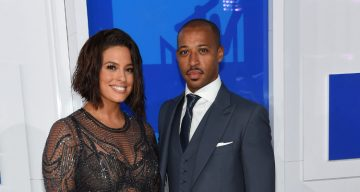 Ashley Graham and husband Justin Ervin attends the 2016 MTV Video Music Awards