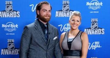 Braden Holtby & wife Brandi