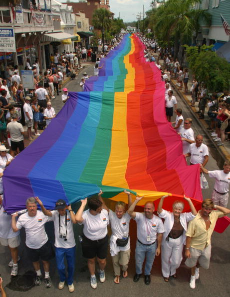 World's Longest Rainbow Flag Unfurled in Key West