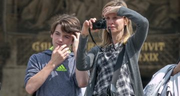 Calista Flockhart and Son Liam Flockhart