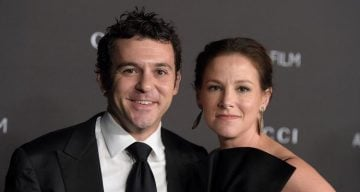 Fred Savage and Jennifer Lynn Stone attend the 2014 LACMA Art + Film Gala honoring Barbara Kruger and Quentin Tarantino
