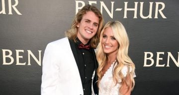 Internet personalities Cole LaBrant (L) and Savannah Soutas attend the LA Premiere of the Paramount Pictures