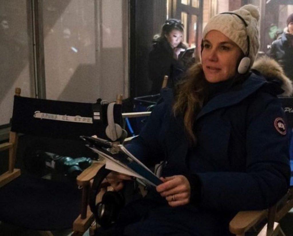 Jeannie Gaffigan on Set