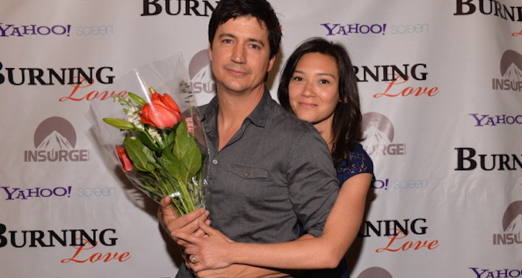 Ken Marino and Erica Oyama