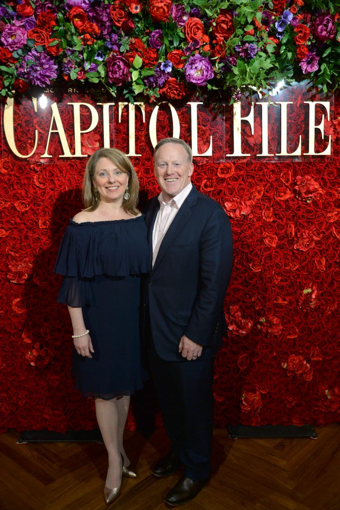 Rebecca Claire Miller and Sean Spicer at the Capitol File White House Correspondents' Weekend Kickoff Celebration