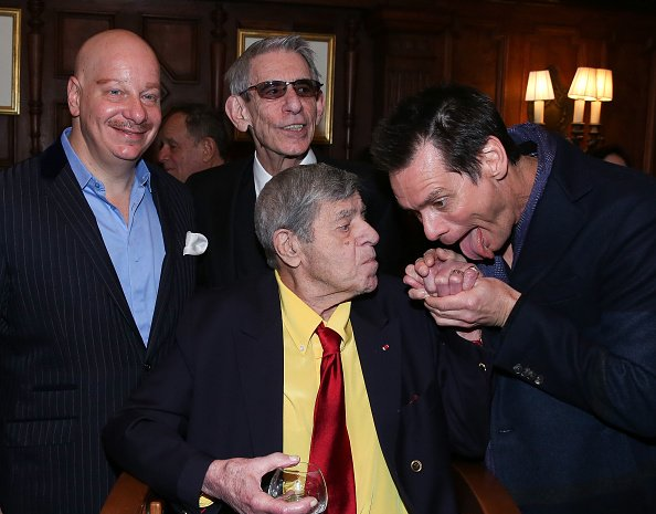 Jeff Ross, Richard Belzer, Jerry Lewis and Jim Carrey