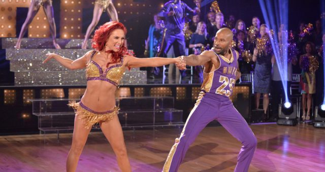 Derek Fisher and Sharna Burgess