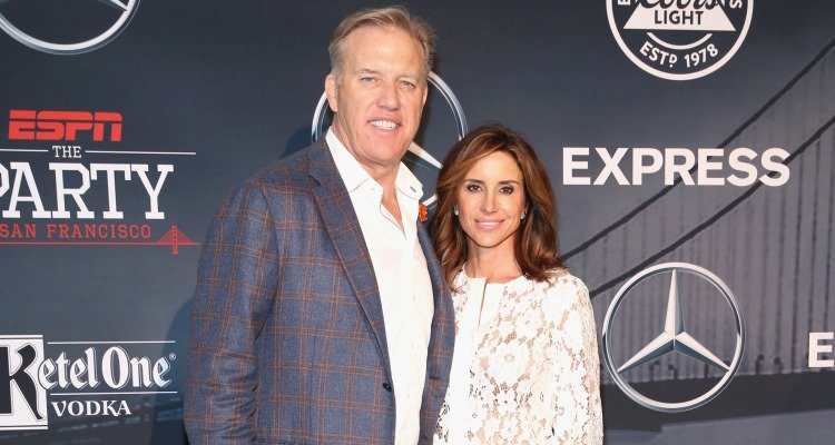 John Elway and Paige Green