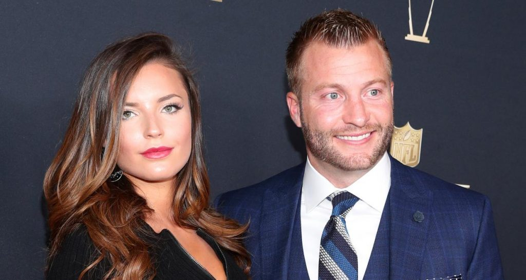 Veronika Khomyn and Sean McVay attend the NFL Honors at University of Minnesota
