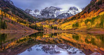 Fall colors at Maroon Bells, Colorado
