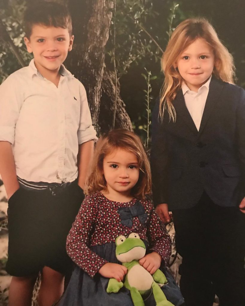 Erin Angle's kids, Henry, Billy and Adeline