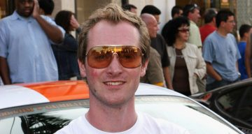 Gumball founder, Maximillion Cooper as the Gumball 3000 Rally comes to an end at the Rodeo Drive finish line on May 7, 2006 in Beverly Hills