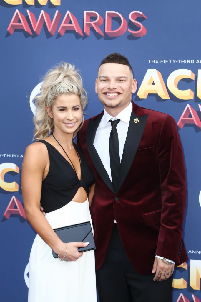 Katelyn Jae (L) and Kane Brown attend the 53rd Academy of Country Music Awards at MGM Grand Garden Arena
