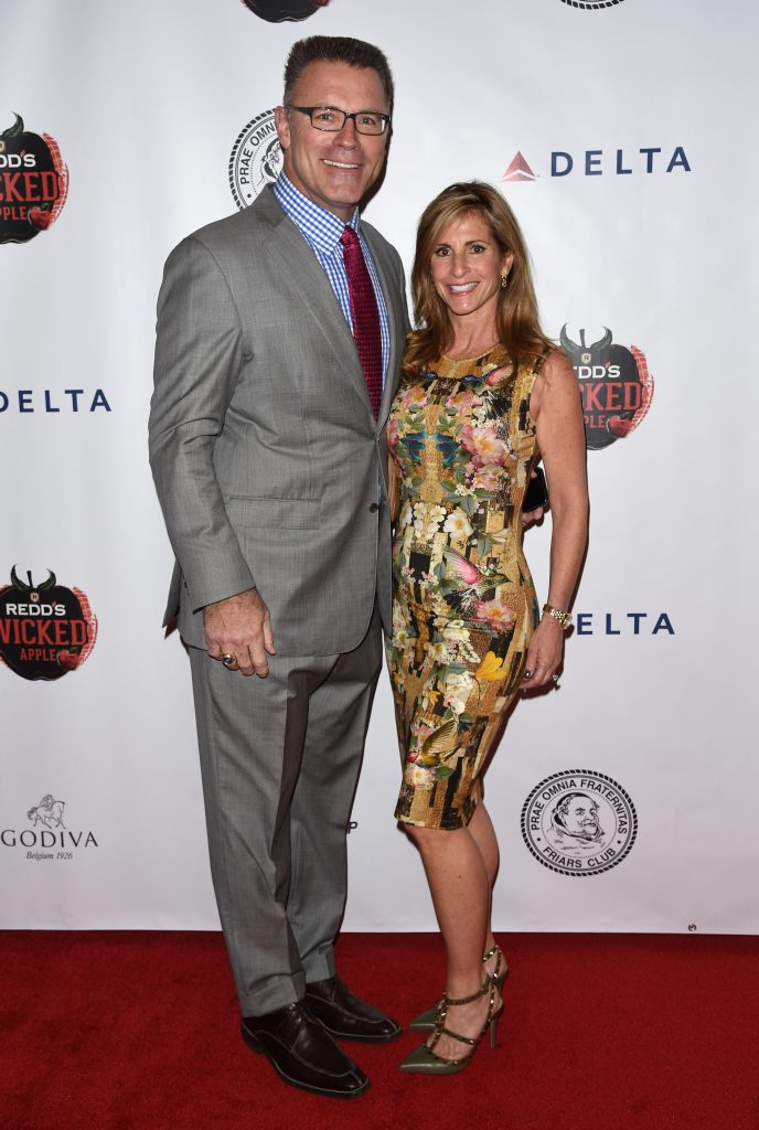 Howie Long and Diane Addonizio at the Friars Club Roast of Terry Bradshaw