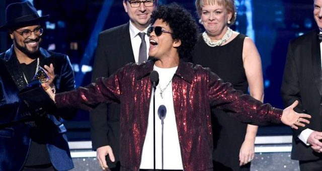 bruno mars(record of th year)