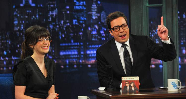 Jimmy Fallon and Zooey Deschanel