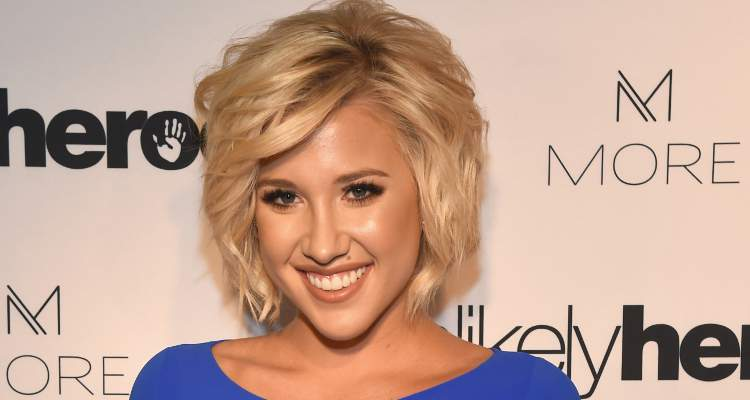 Savannah Chrisley Red Pageant Dress