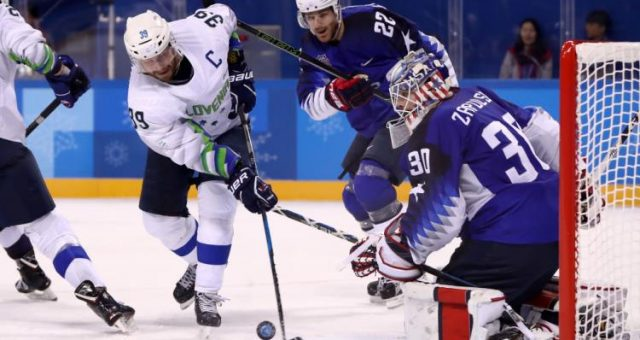 USA vs. Slovenia hockey