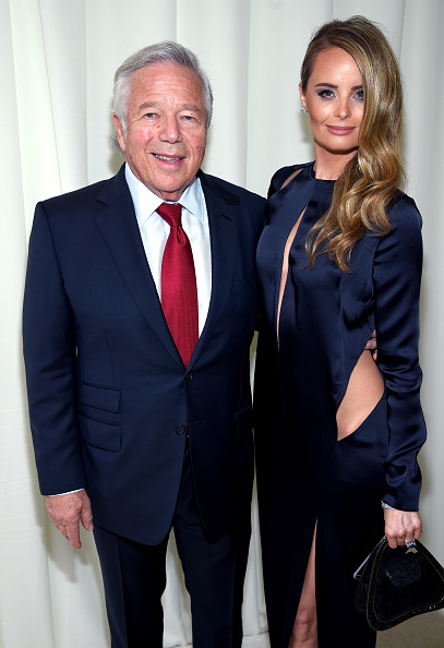 Ricki Noel Lander and Robert Kraft
