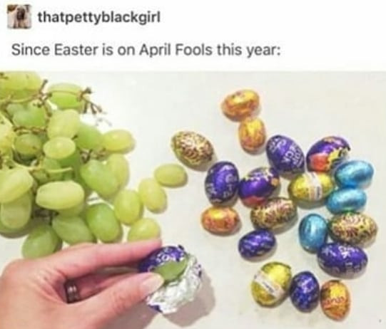 funny easter prank