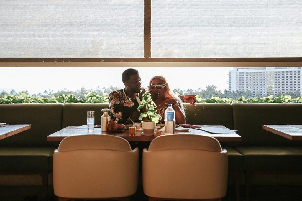 Gucci Mane & Keyshia Ka'oir Eating Together